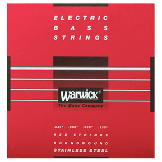 Warwick 42210 Red Label Medium-Light Bass Strings (40-100), 4-String