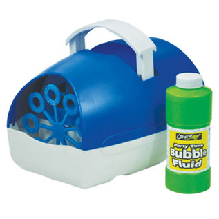 Cheetah Party Time Battery Operated Bubble Machine, Blue