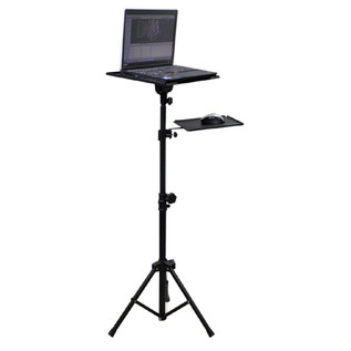 Electrovision Height Adjustable Tripod Laptop Stand with Mouse Shelf
