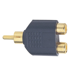 Electrovision Gold Plated RCA Phono Male/2xRCA Phono Female Adaptor