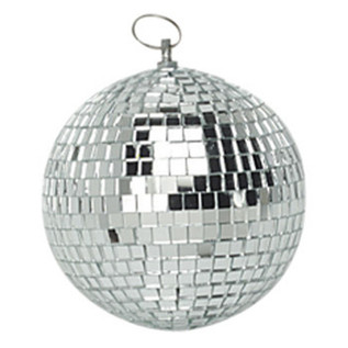 SoundLab Silver Lightweight Mirror Ball, 10