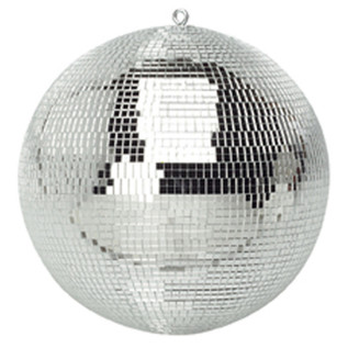 SoundLab Silver Lightweight Mirror Ball, 12