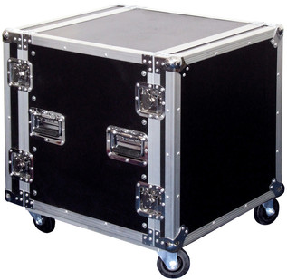 Electrovision Plywood Rack Case on Wheels with Removable Lids, 12U (Main 2)