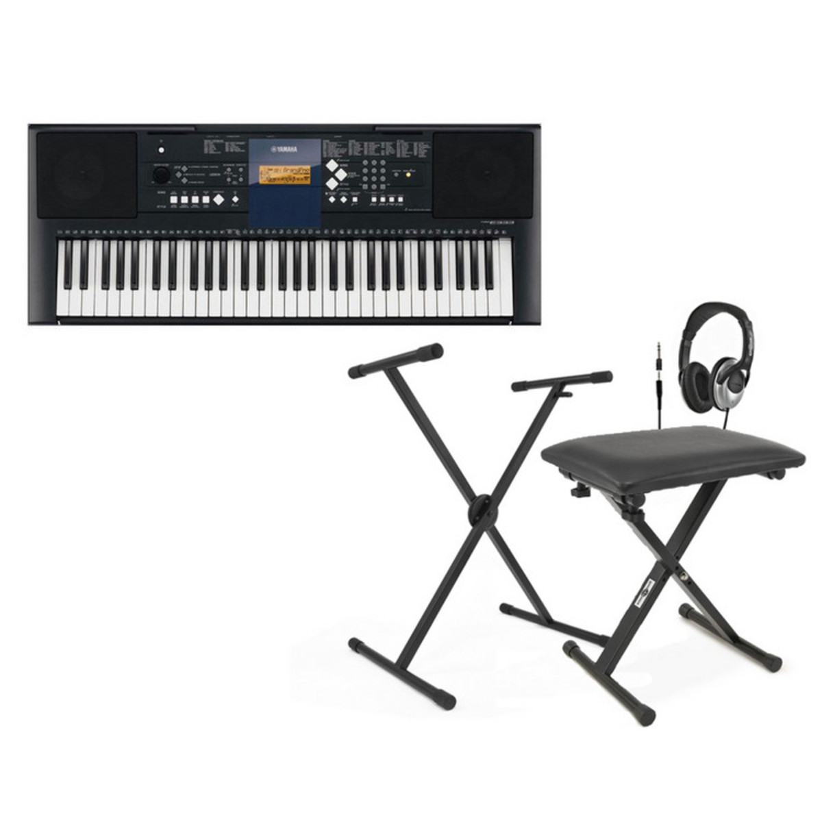 Disc yamaha psr e333 portable keyboard with stand bench at Keyboard stand and bench