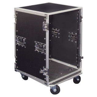Electrovision Plywood Rack Case on Wheels with Removable Lids, 16U (Main 2)