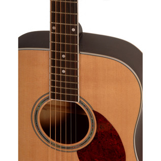 Freshman FA1DNS Dreadnought Acoustic Guitar, Natural with Hardcase Soundhole