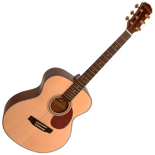 Freshman FA1FNS Folk Acoustic Guitar, Natural with Hardcase