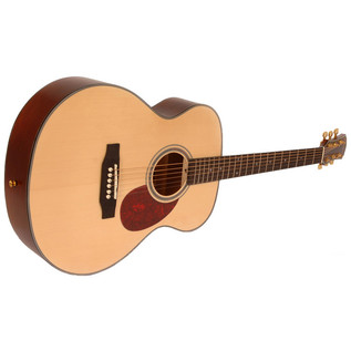 Freshman FA1FNS Folk Acoustic Guitar, Natural with Hardcase Side