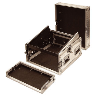 Electrovision Professional Full Flight Rack Case with Mixer Top, 8U