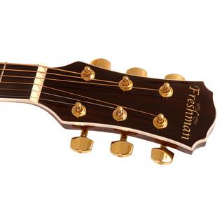 Freshman FA1FSBS Folk Acoustic Guitar, Sunburst with Hardcase Headstock