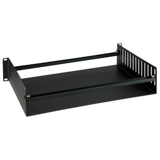 Electrovision Black Powder Coated Steel Rack Tray, 2U
