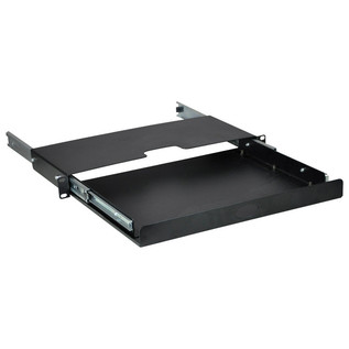 Electrovision Black Powder Coated Steel Rack Drawer, 1U (2)