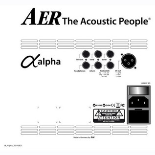 AER Alpha Plus Acoustic Amp