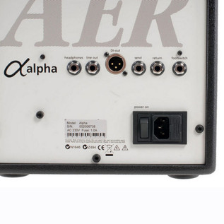 AER Alpha Acoustic Guitar Amp, Black