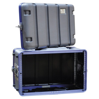 NJS Heavy Duty ABS Short Rack Case, 6U
