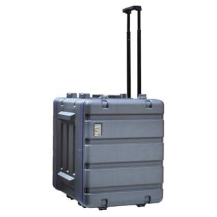 NJS Heavy Duty Wheeled ABS Rack Case, 8U
