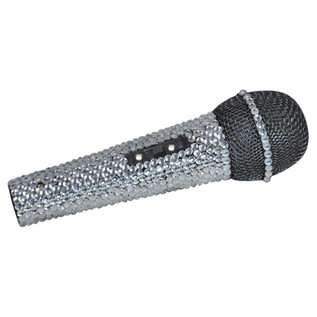 NJS Sparkling Karaoke Microphone with Case and Cable
