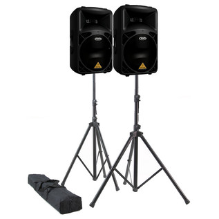 Behringer B812NEO DSP Active PA Speaker & Stands