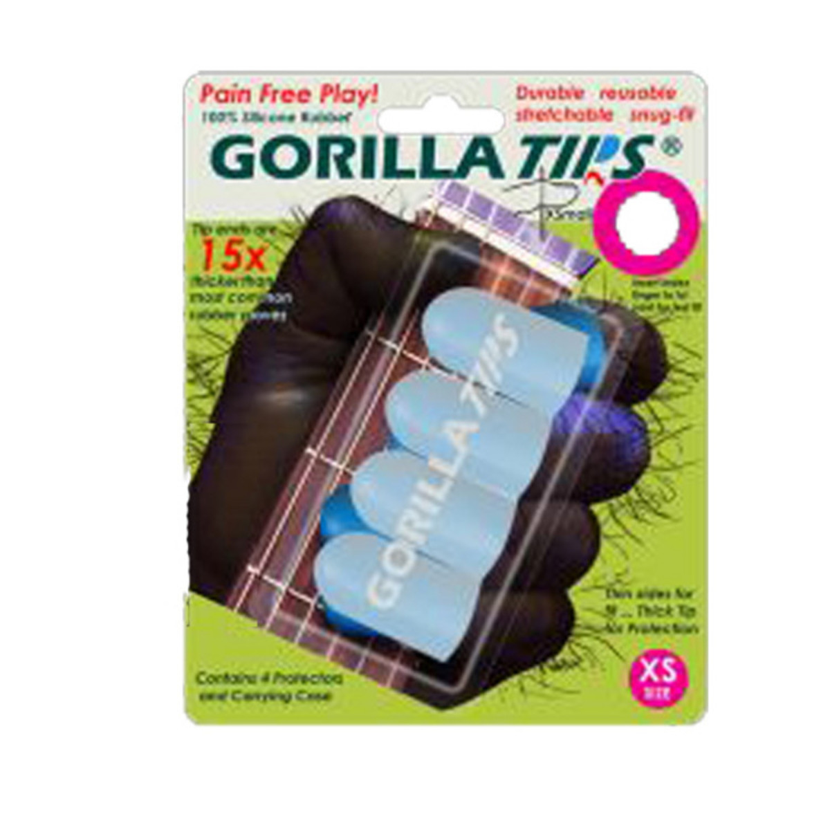 Image of Gorilla Tips Fingertip Protectors Clear Size Extra Small