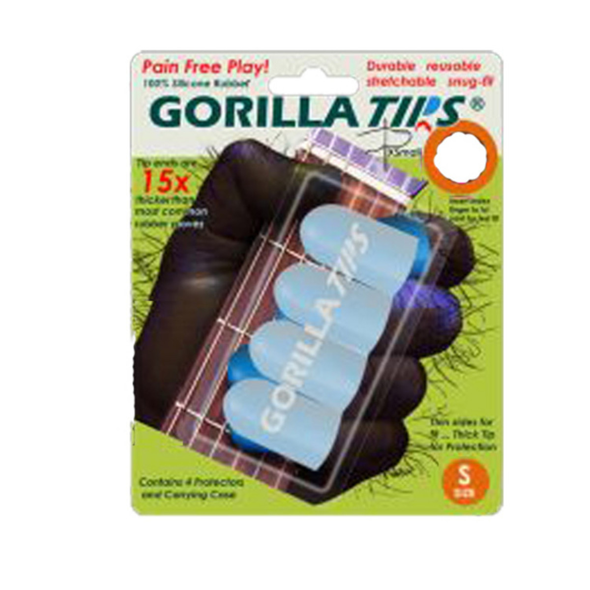 Image of Gorilla Tips Fingertip Protectors Clear Size Small