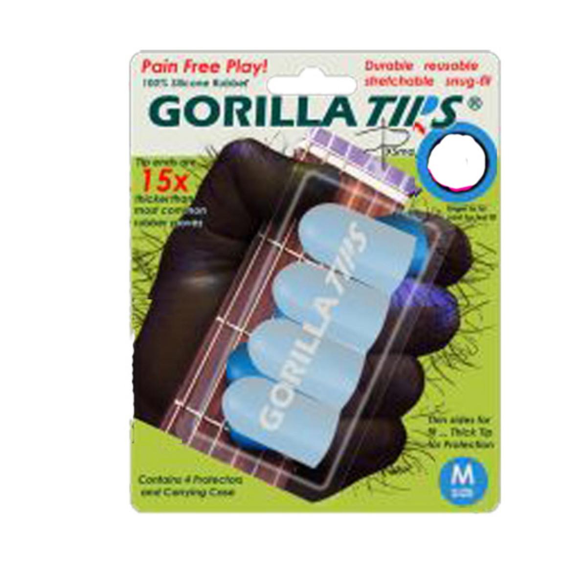 Image of Gorilla Tips Fingertip Protectors Clear Size Medium