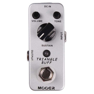 Mooer MFZ2 Triangle Buff Fuzz Pedal FREE Jack Patch Cables