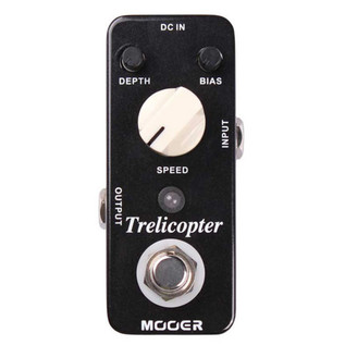 Mooer MTR1 Trelicopter Optical Tremolo Pedal FREE Jack Patch Cables