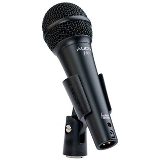 Audix F50 Dynamic Vocal Microphone, Low Impedance in Clip