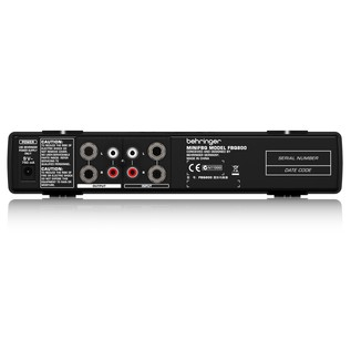 Behringer FBQ800 MINIFBQ Graphic EQ, Rear