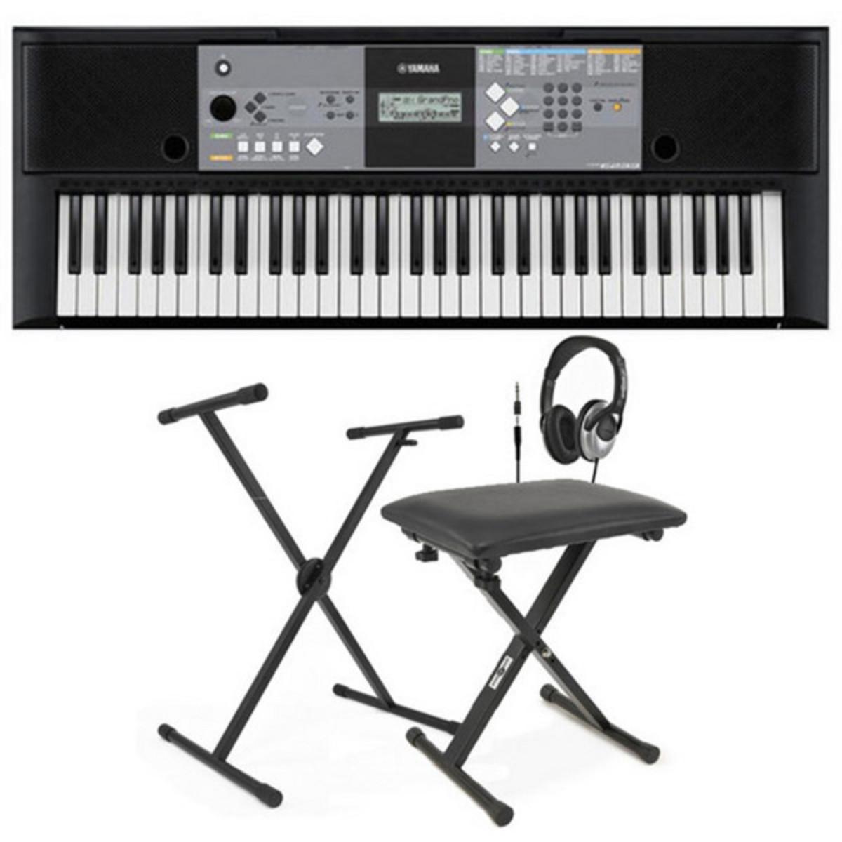 Disc yamaha psr e233 portable keyboard with stand bench for Yamaha psr stand