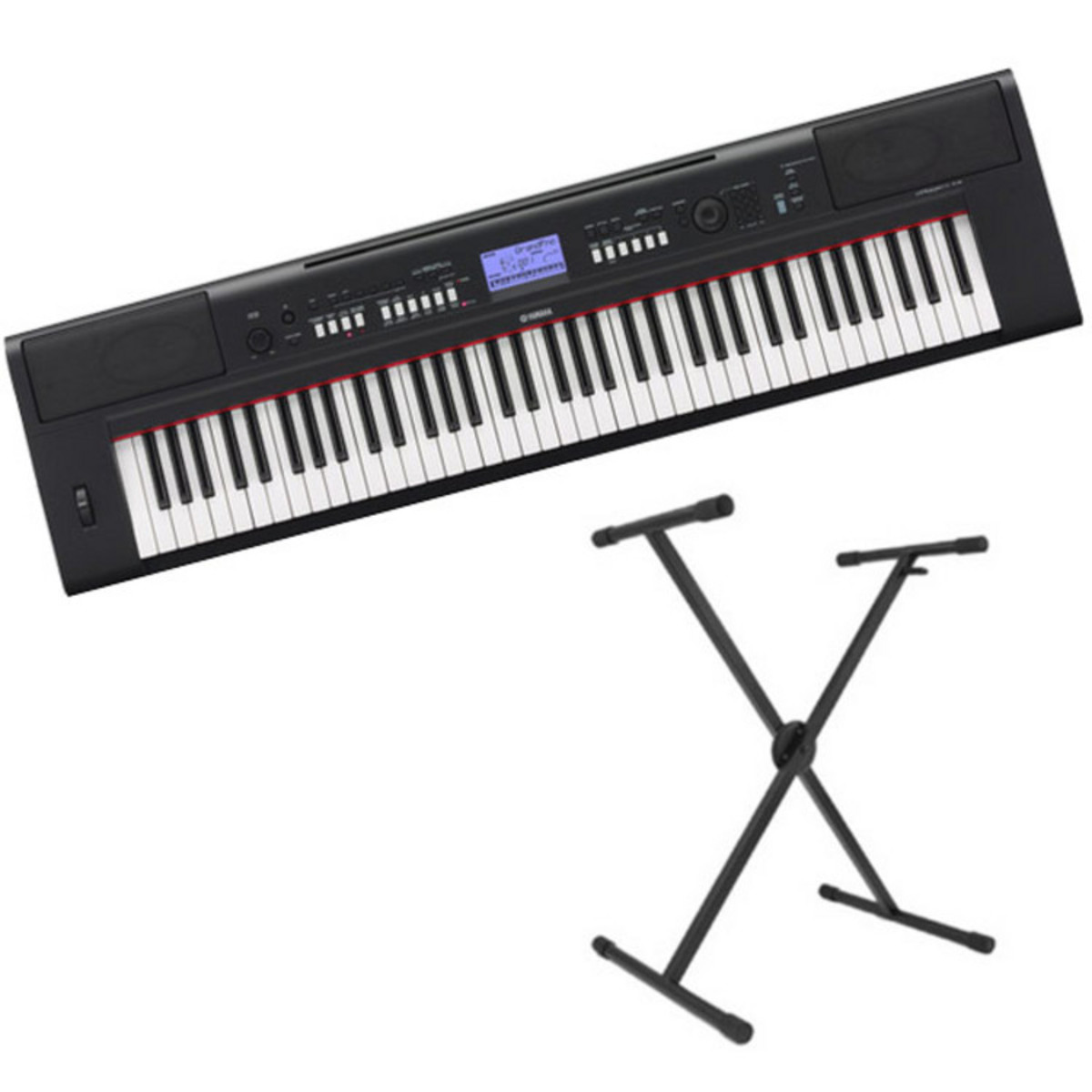 yamaha piaggero np v60 b rbar keyboard sort gratis. Black Bedroom Furniture Sets. Home Design Ideas