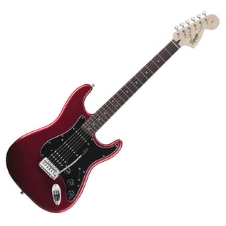 Squier by Fender Stratocaster Pack HSS with 15w Amp, Candy Apple Red