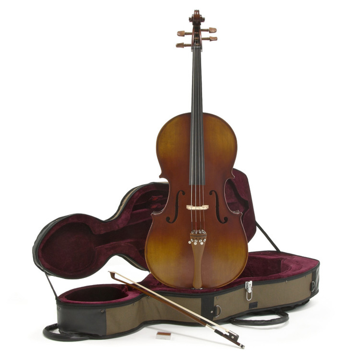 Image of Deluxe 1/4 Cello with Case Antique Fade by Gear4music
