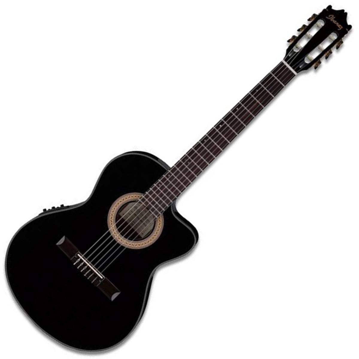 guitare classique electro acoustique de discibanez ga35tce noir. Black Bedroom Furniture Sets. Home Design Ideas