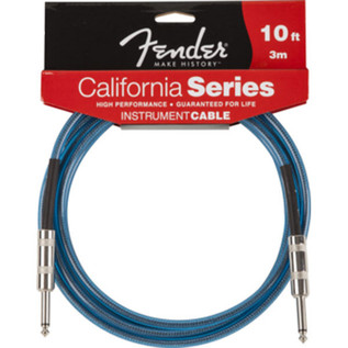 Fender California Instrument Cable, Lake Placid Blue, 3m