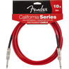 Fender Californien Instrument kabel, Candy Apple rød, 3 m