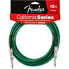 Fender California Instrument Cable, Surf Green, 4.5m