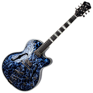 Hofner Gold Label New President Archtop Electric Guitar, Blue Pearl
