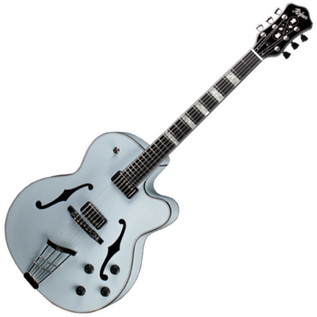 Hofner Gold Label New President Archtop Electric Guitar, Light Blue