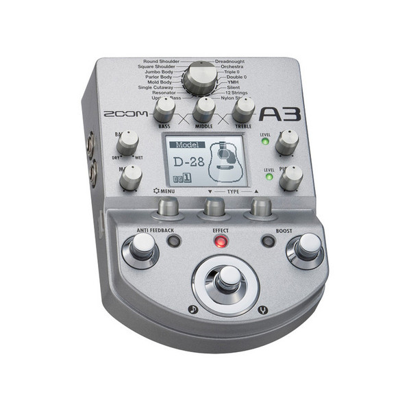 Zoom A3 Acoustic Multi-Effects Pedal - main