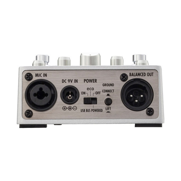 Zoom A3 Acoustic Multi-Effects Pedal - Rear