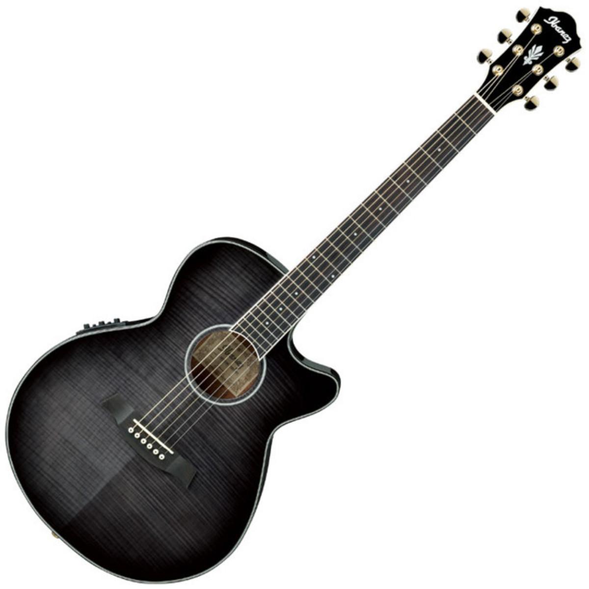 Image of Ibanez AEG24II Electro Acoustic Guitar Transparent Grey Burst