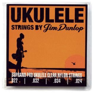 Jim Dunlop Ukulele Strings, Clear Nylon, Soprano Pro