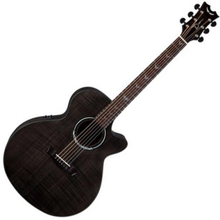 Dean Performer Ultra Electro-Acoustic, Flame Maple, Transparent Black