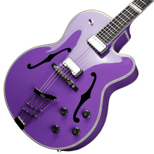 Hofner Gold Label New President Archtop Electric Guitar, Gloss Purple