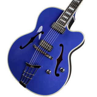 Hofner Gold Label New President Archtop Electric Guitar, Royal Blue