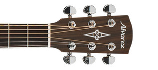 Alvarez AD90 Dreadnought Acoustic Guitar, Natural Headstock