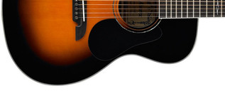 Alvarez AF60 Folk OOO Acoustic Guitar, Sunburst Lower Body