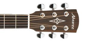 Alvarez AG75CE Grand Auditorium Electro Acoustic Guitar, Natural Headstock