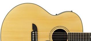 Alvarez AJ80CE Jumbo Electro Acoustic Guitar, Natural Upper Body